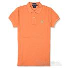 Ralph Lauren 經典LOGO 窄版POLO女衫(粉橘)