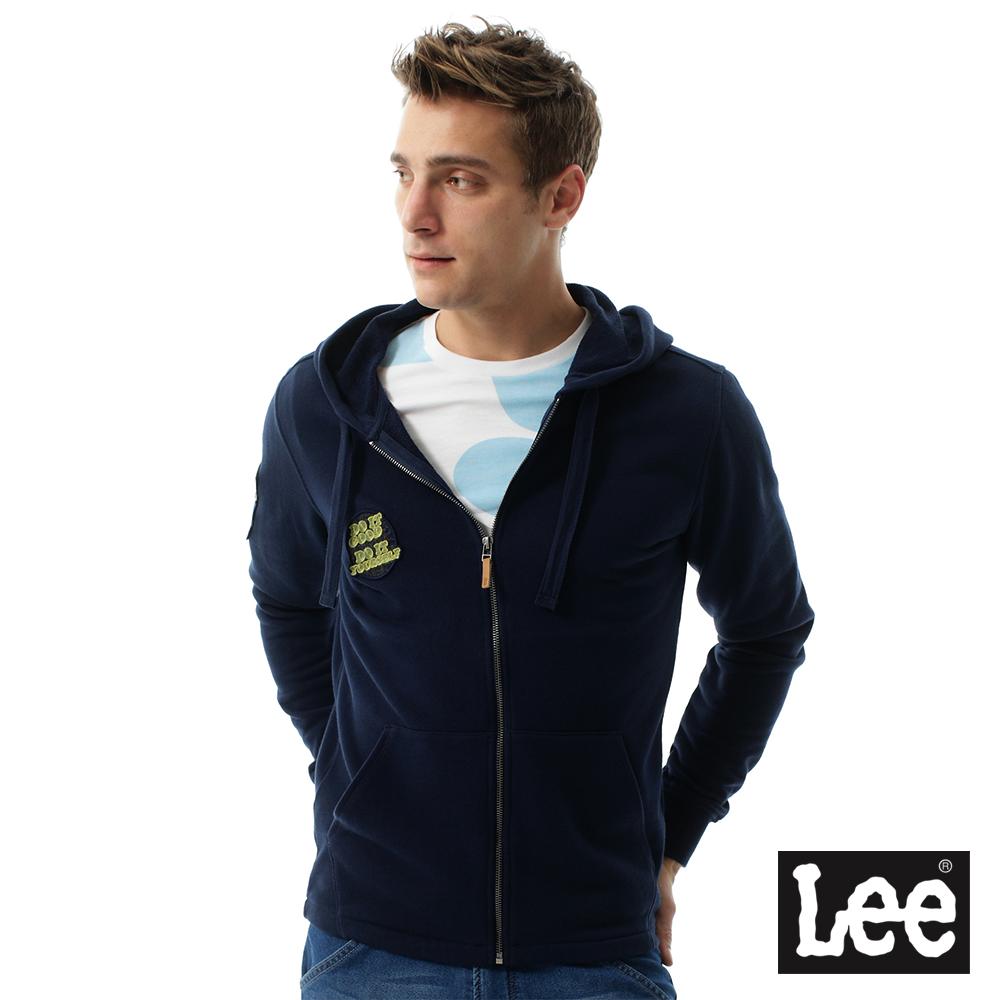 Lee 帥氣Regional休閒連帽外套-男款-藍