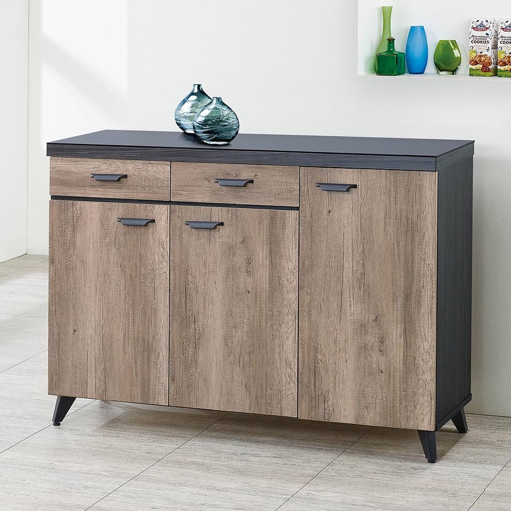 H&D 雷森4尺碗盤櫃 (寬120X深40X高88cm)