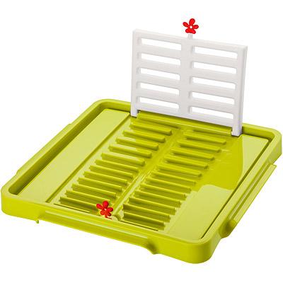 KOZIOL 摺疊碗盤瀝水架(綠)