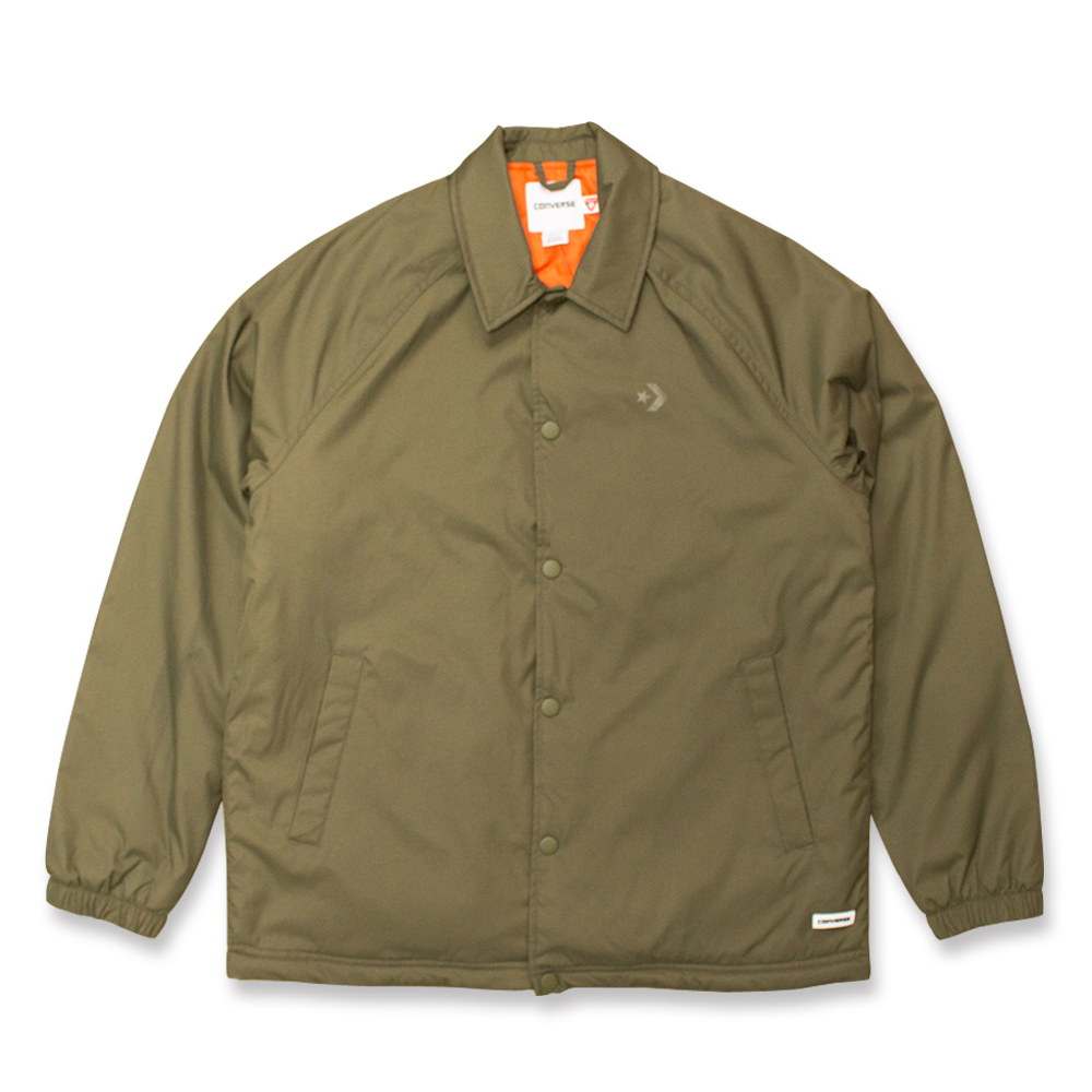 CONVERSE-男休閒外套10004616A04-橄欖綠