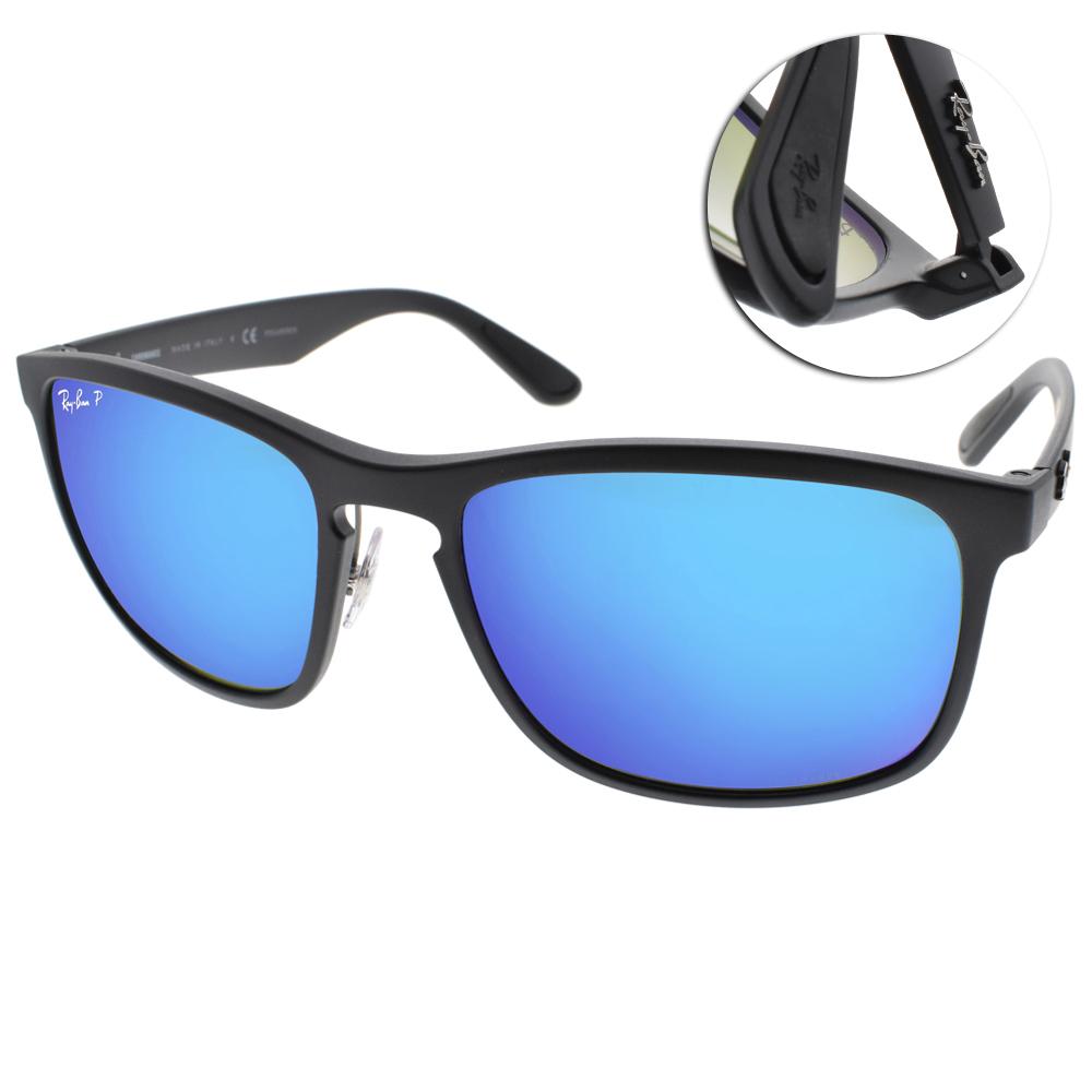 RAY BAN偏光太陽眼鏡 經典品牌/黑-藍水銀#RB4264 601SA1
