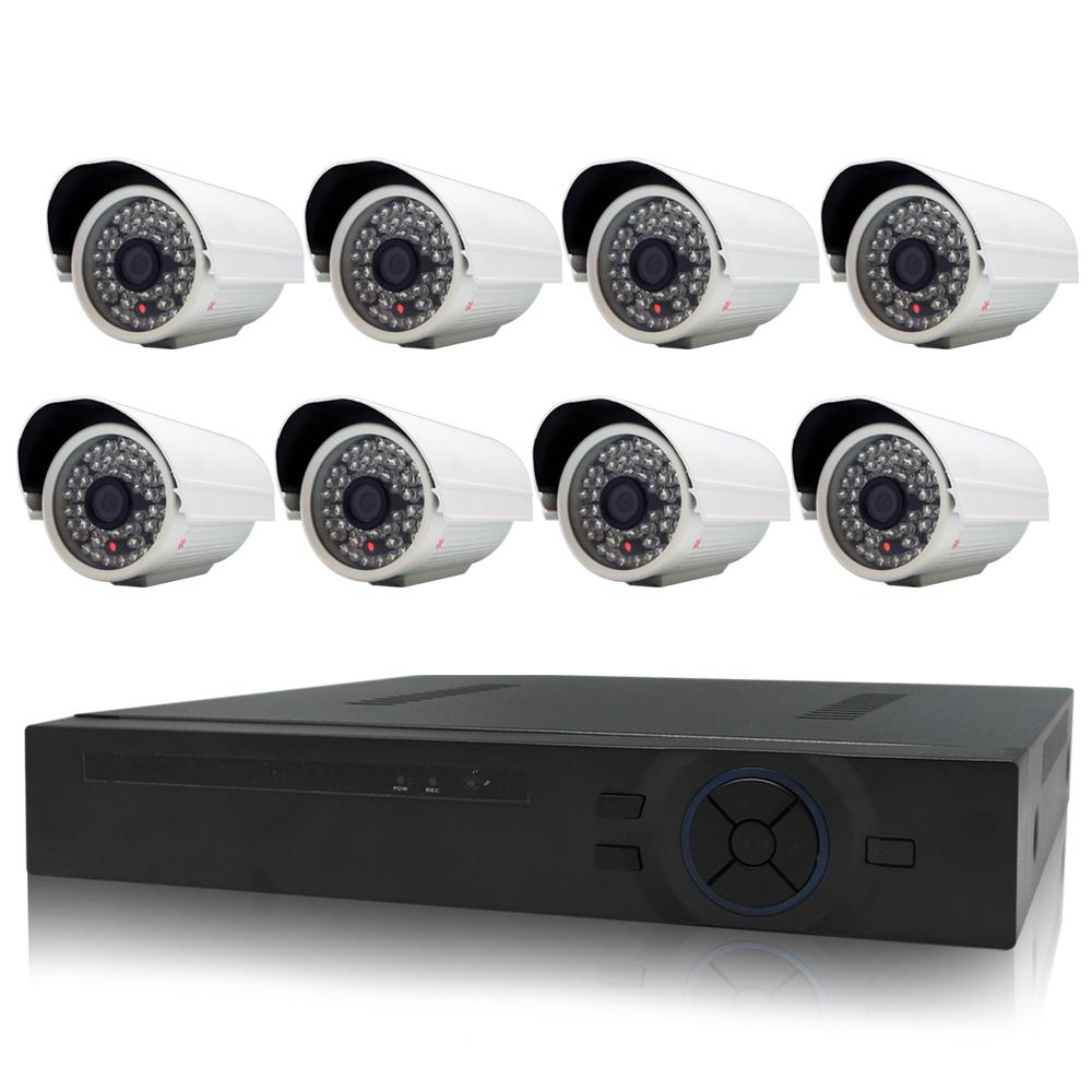 奇巧 8路AHD高清遠端監控套組(含雙模切換SONY130萬攝影機x8)