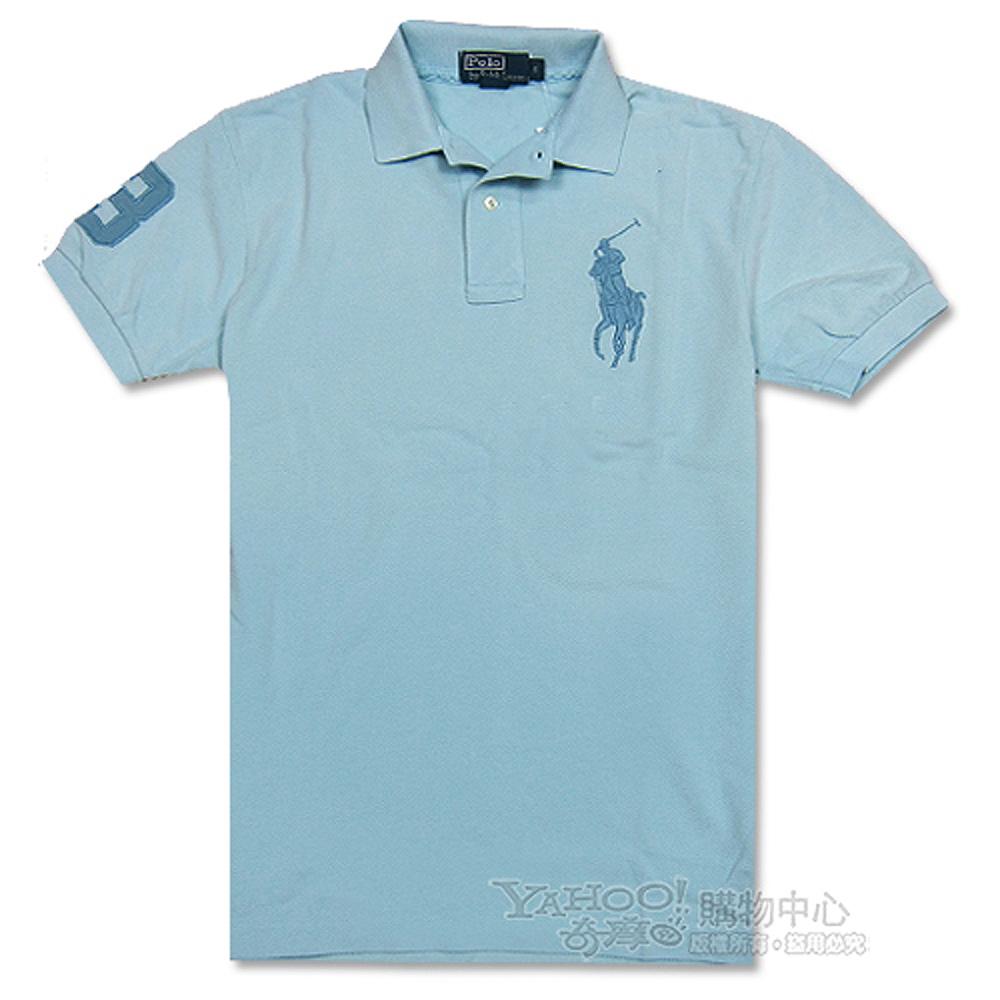 Ralph Lauren 經典大馬3號POLO寬版男衫(天空藍)
