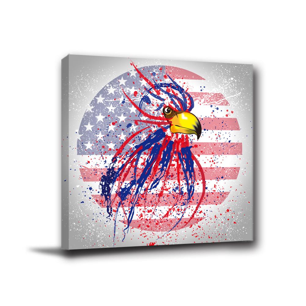 24mama掛畫-單聯無框圖畫藝術家飾品掛畫油畫-鷹王-30x30cm