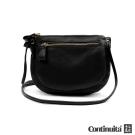 【Continuita 真皮屋】台灣手工真皮包 MIT 雙胞胎口袋包-黑色