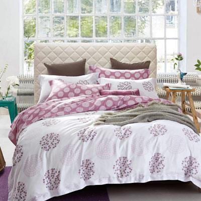 Saint Rose 繁星點點 加大100%純天絲全鋪棉床包兩用被套四件組