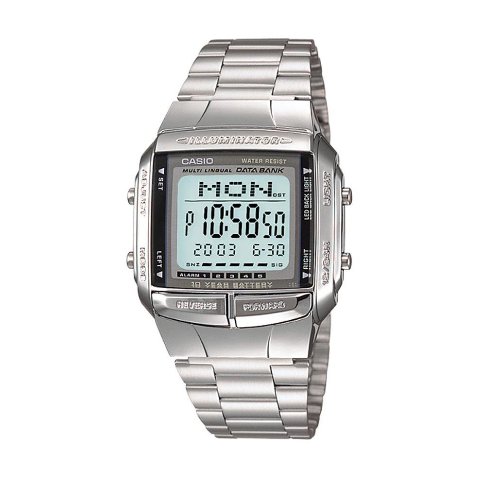 CASIO 數位城市光廊電子數字錶(DB-360-1A)-銀/37.7mm