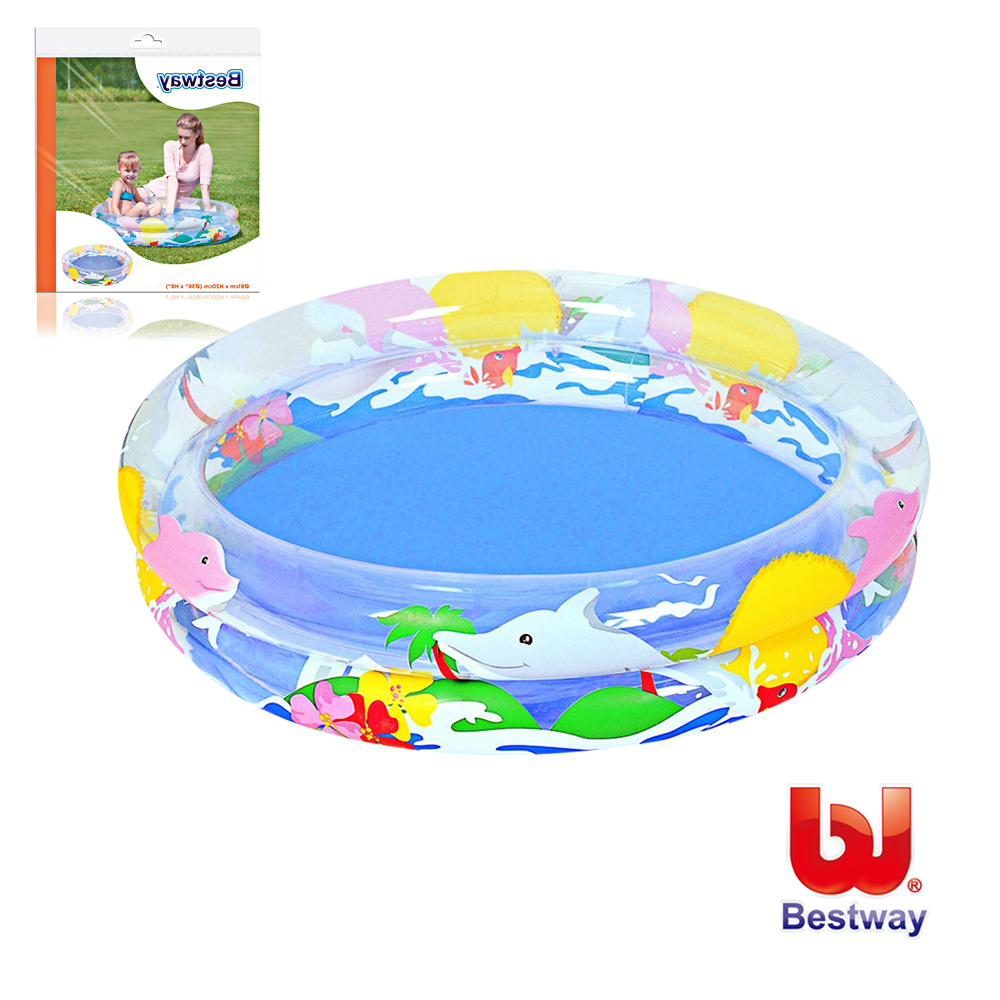 《凡太奇》Bestway。兒童透明海洋生活充氣水池  51012
