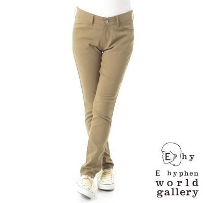 E hyphen 素色窄管褲