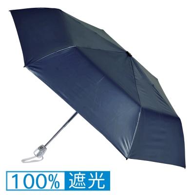 2mm 第二代 100%遮光降溫 黑膠自動開收傘 (深藍)