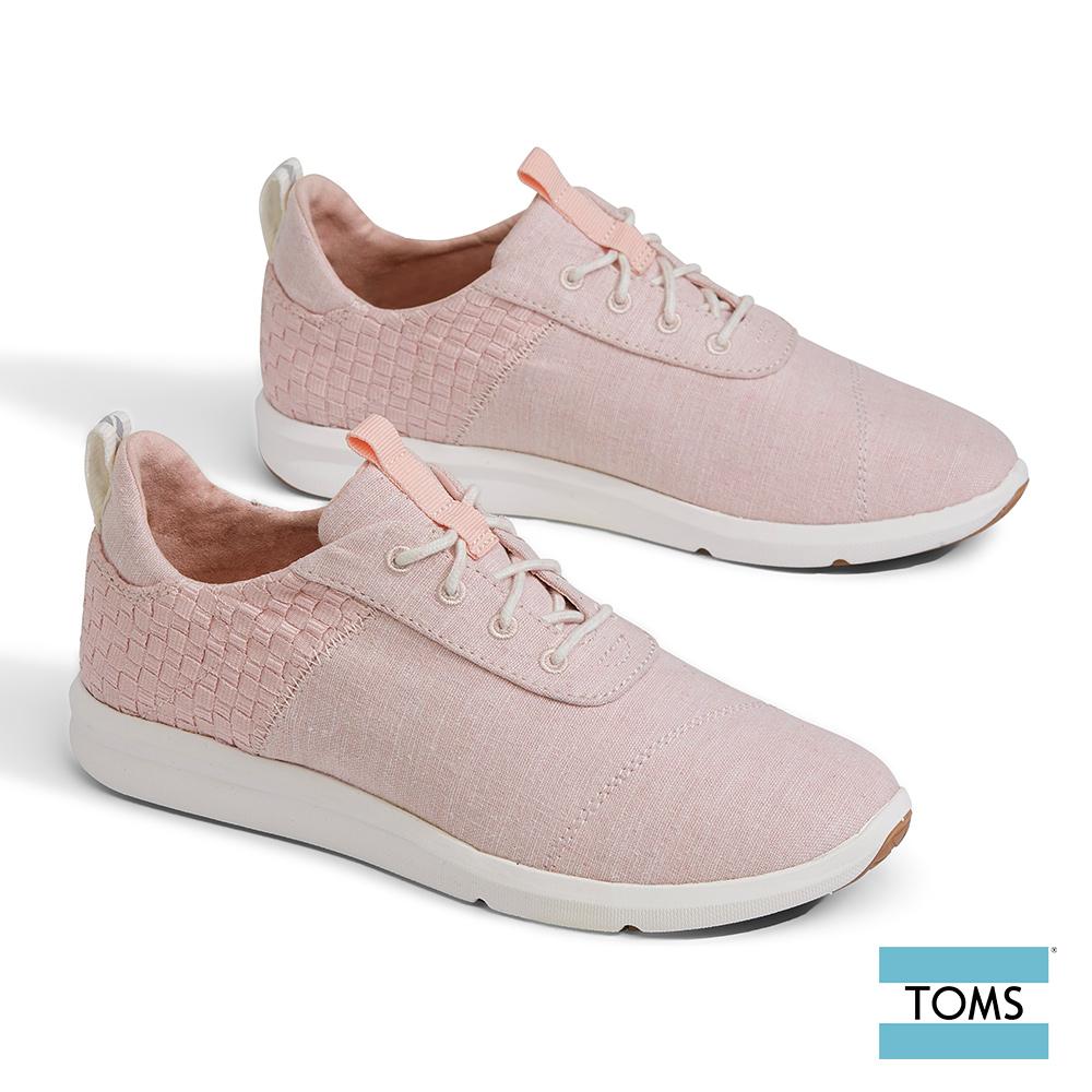 TOMS 拼接編織綁帶休閒鞋-女款