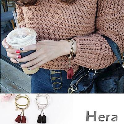 Hera 赫拉 韓款多層次流蘇開口手環/手鐲/手鏈3件組