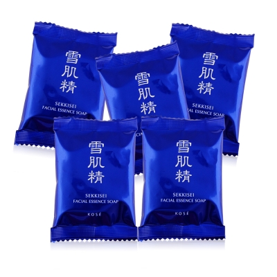 KOSE 高絲 雪肌精晶透潤白潔顏皂10GX5