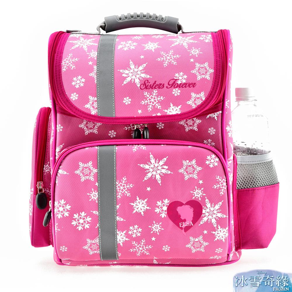 冰雪奇緣 立體護脊透氣書包 粉紅色