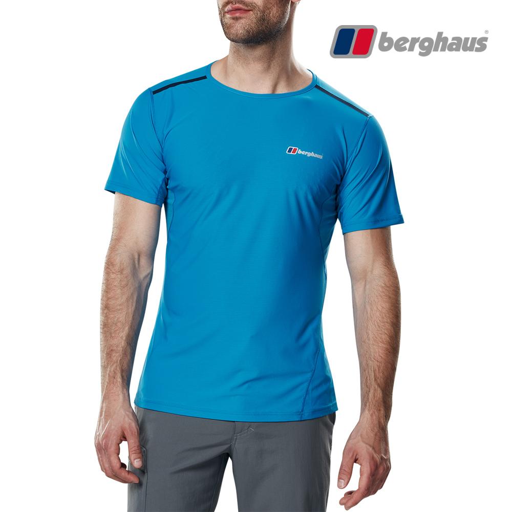 【Berghaus貝豪斯】男款銀離子除臭抗菌抗UVT恤S04M12-藍
