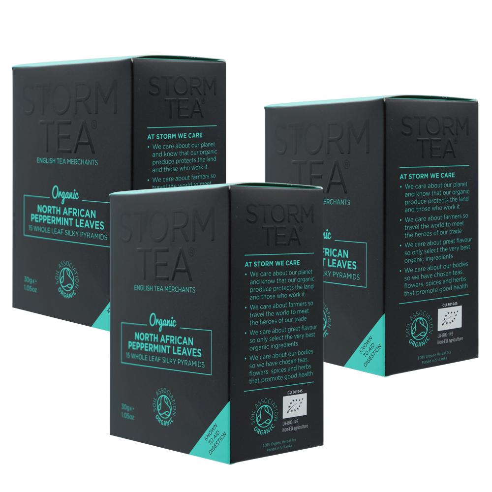 英國原裝進口Storm風暴有機薄荷茶3盒