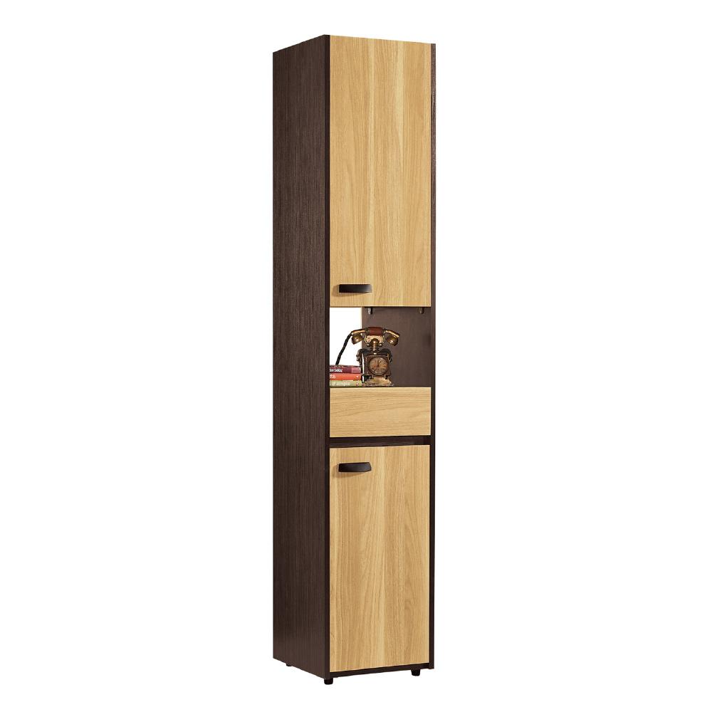 品家居  摩多1.3尺木紋雙色玄關櫃/隔間櫃-40x35x197.2cm免組