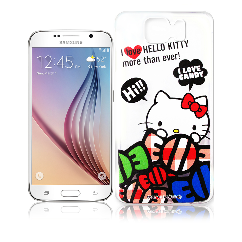 Hello Kitty Samsung Galaxy S6 透明軟式殼 糖果款