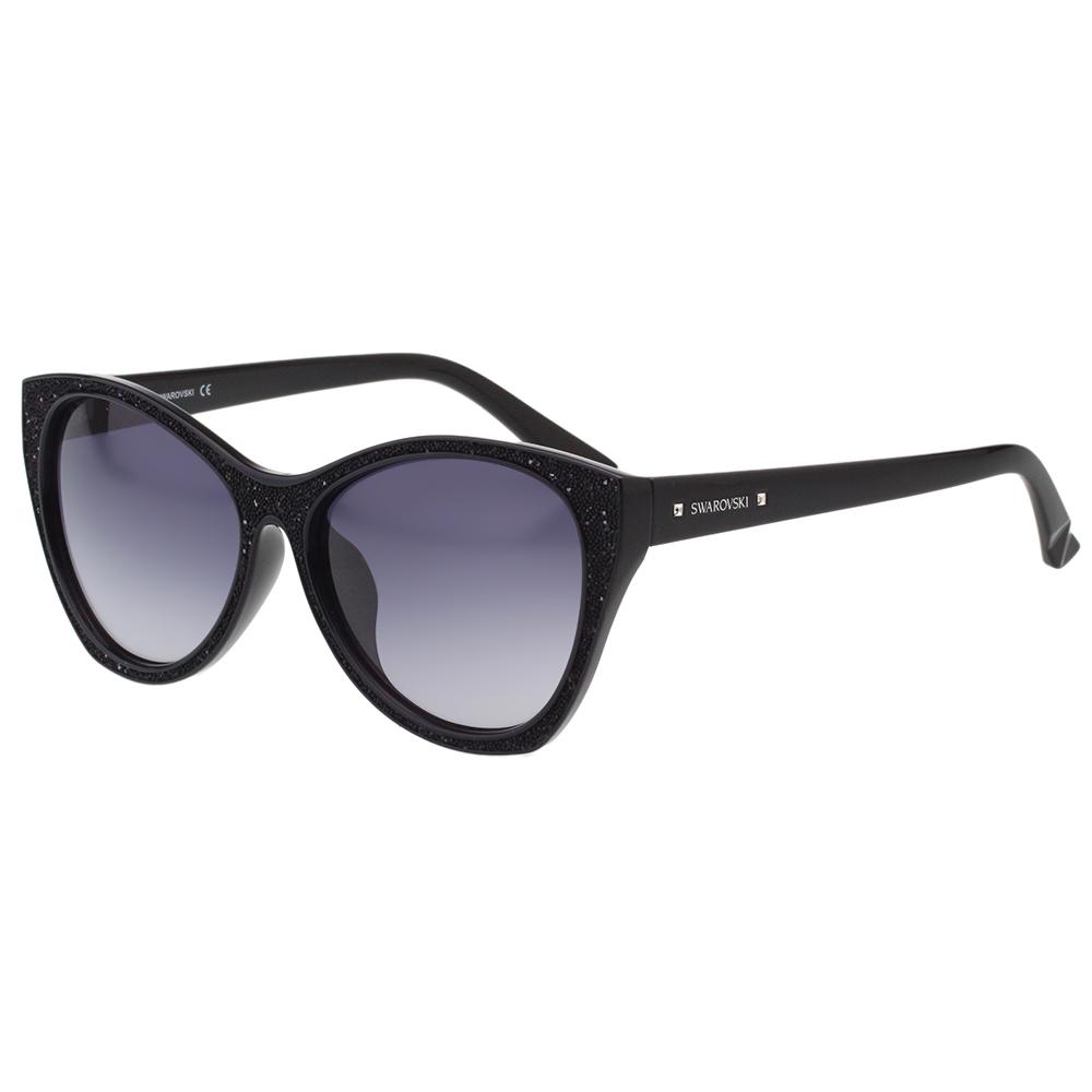 SWAROVSKI太陽眼鏡-貓眼-黑色SW108F