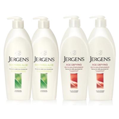 JERGENS珍柔 美體護膚保濕乳液650ml-蘆薈x2+維他命x2