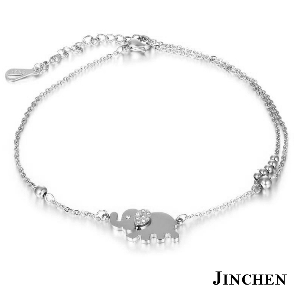JINCHEN 白鋼大象腳鍊