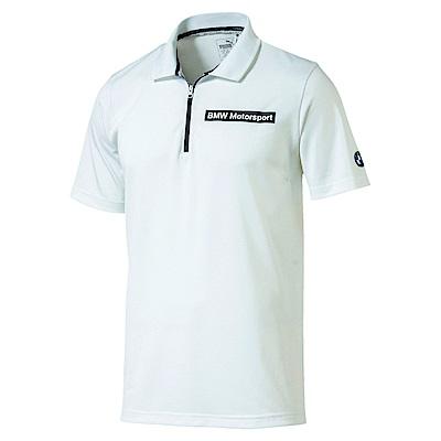 PUMA-男性BMW系列SP-Cat短袖POLO衫-白色-歐規