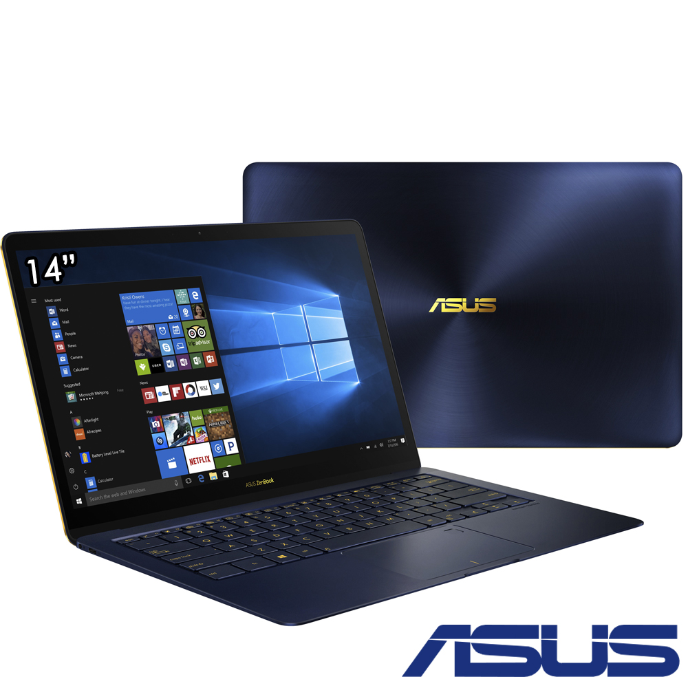 ASUS UX490 14吋窄邊框筆電(i7-7500U/1T/16G/FHD/皇家藍