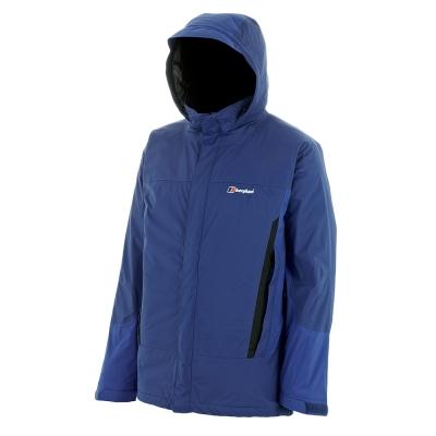 【Berghaus貝豪斯】男款AQ2防水保暖纖維外套H22M09-藍