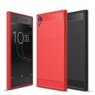 揚邑 Sony Xperia XA1 Ultra 碳纖維拉絲紋軟殼散熱防震抗摔手機殼