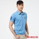 BOBSON  男款POLO上衣-藍色