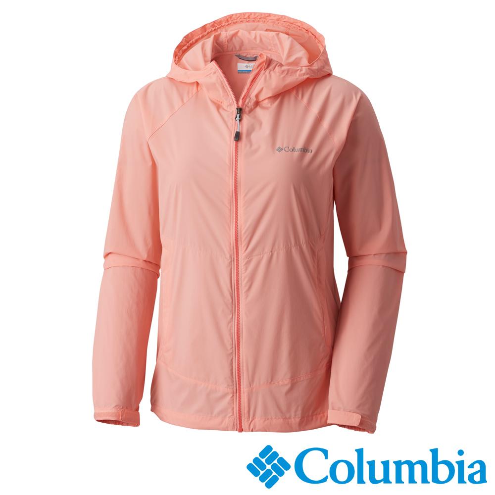 Columbia 哥倫比亞 女款-連帽風衣-粉紅 (URR30710PK)