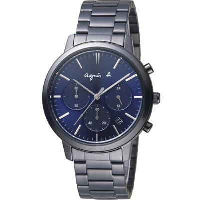 agnes b.香榭生活風尚計時腕錶(VD53-KJC0SD)-40mm