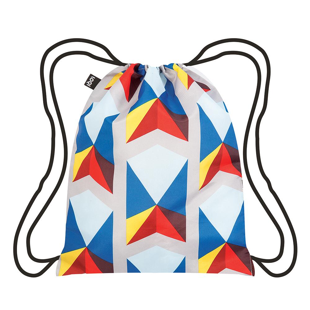 LOQI 束口後背包 三角形