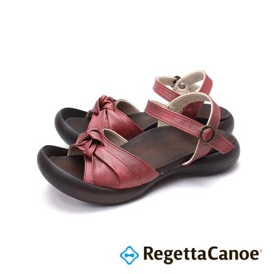 RegettaCanoe-扭轉蝴蝶結鞋面樂步鞋-紅色