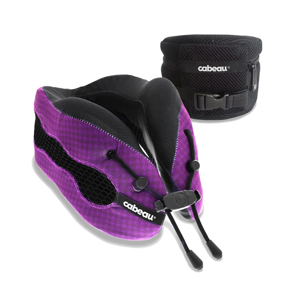 CABEAU-酷涼記憶棉頸枕2.0-科幻紫