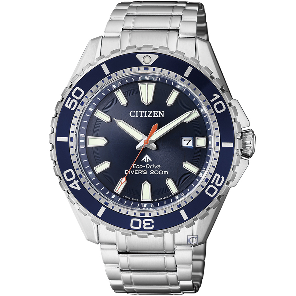 CITIZEN Promaster 光動能潛水錶(BN0191-80L)-藍/43.5mm