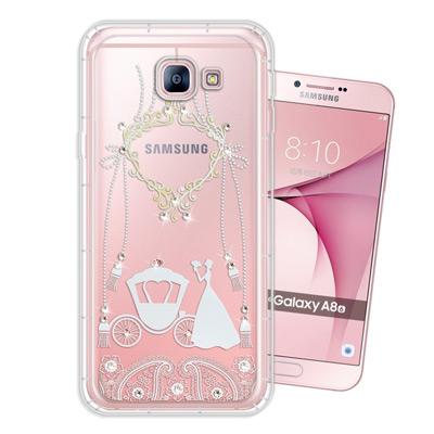 WT Samsung Galaxy A8(2016) 奧地利水晶彩繪空壓手機殼(...
