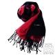 SOFER 素色100%蠶絲保暖圍巾 - 黑