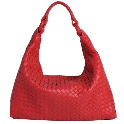 BOTTEGA VENETA SLOANE BAG 小羊皮編織肩背包(紅色)