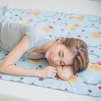 奶油獅-MIT-搖滾星星ADVANTA超防水保潔墊/生理墊/尿布雙人150*186cm粉藍