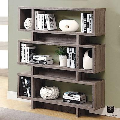 漢妮Hampton尼爾系列摩登書櫃(褐灰色)-120x29.5x138.5cm
