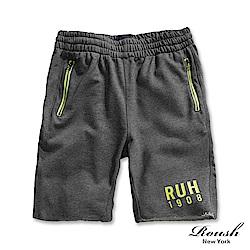 ROUSH 螢光立體膠印水洗棉質短褲 (4色)