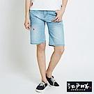 EDWIN 江戶勝櫻花短褲-女-重漂藍