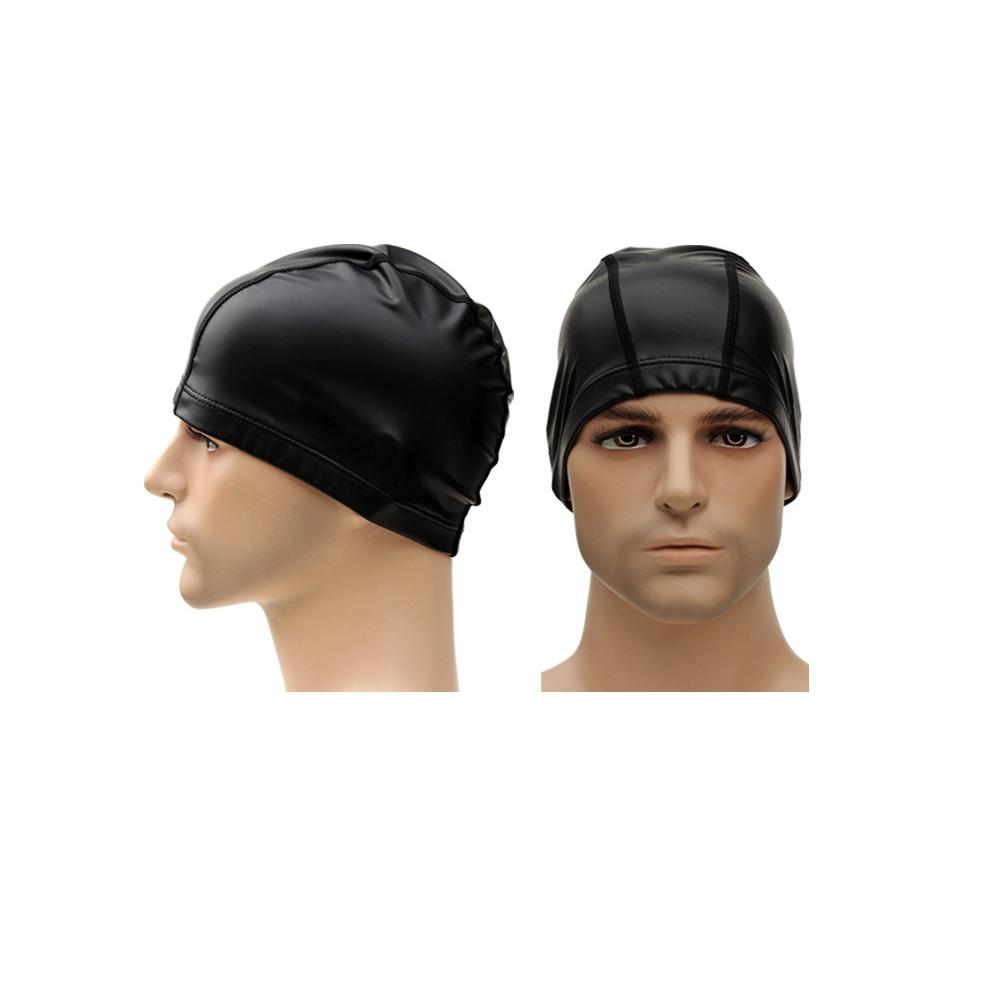 Biki比基尼妮泳衣  PU皮泳帽舒適型游泳帽泳帽(皮質)