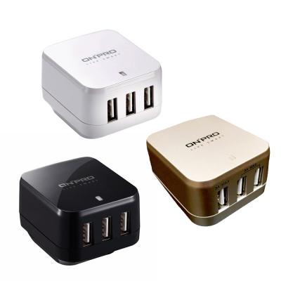 ONPRO USB 4.8A 3孔萬國急速充電器 (UC-3P01W)
