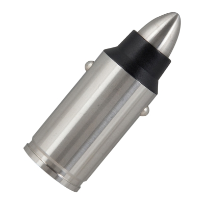 TCSTAR QC3.0快充不鏽鋼步槍彈造型車充 TCP300R