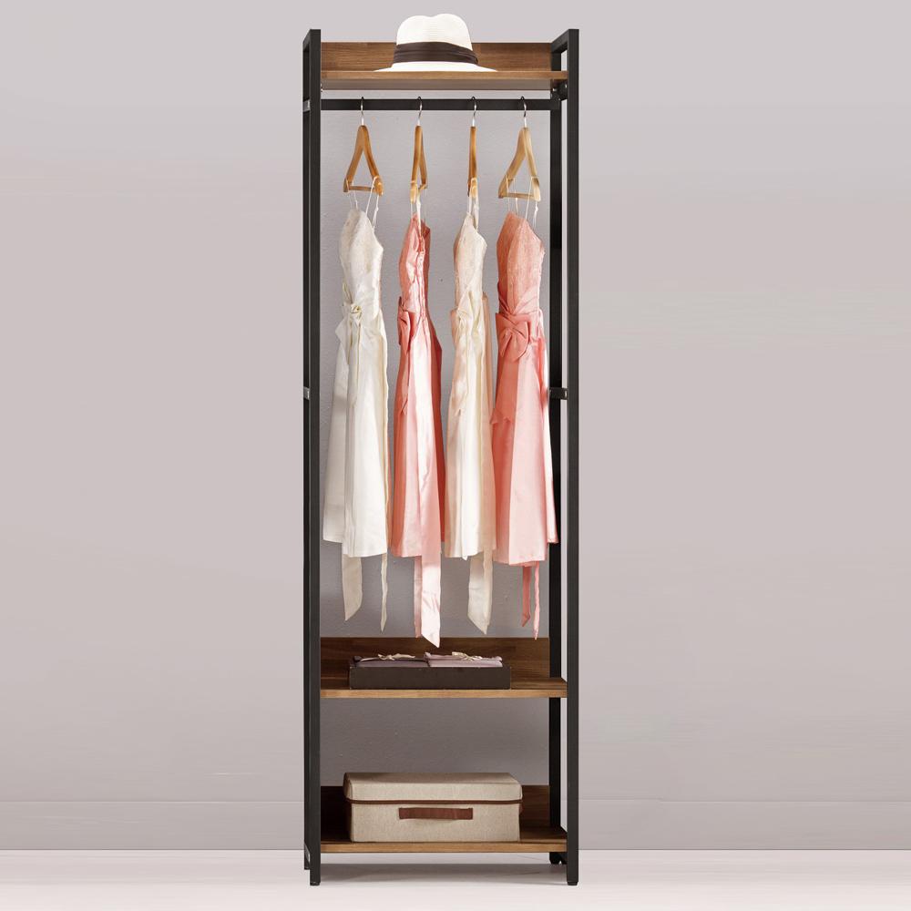 Bernice-諾德2尺開放式單吊衣櫃-60x44x191cm