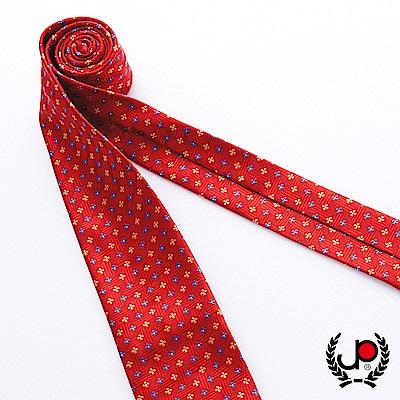 極品西服 100%絲質義大利手工領帶_紅藍小碎花(YT5086)