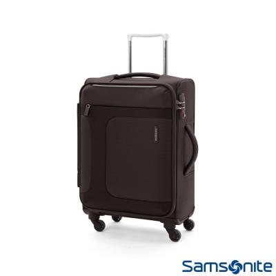 Samsonite新秀麗 20吋 Asphere可擴充布面軟殼登機箱 (黑)